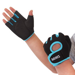 Wholesale Gym Body Building Equipment - Wholesale- Half Finger Cycling Gym Body Building Training Fitness Gloves Sports Equipment Weight lifting Workout Exercise Breathable