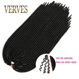 Wholesale Mambo Mix - VERVES 2017 hot faux locs crochet hair mix color dreadlocks braids havana mambo twist crochet braid hair synthetic dread hair extensions