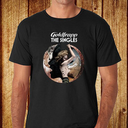 Wholesale Group Electronics - Short Sleeve T-Shirt Funny PrintNew Goldfrapp The Singles Electronic Duo Group Mens Black T-Shirt Size S-3XL