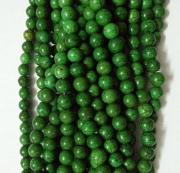 Wholesale Turkey Turquoise Beads Wholesale - wholesale 8mm green Turkey Turquoise Gems Round Loose Bead total 500pcs