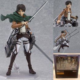 Wholesale Anime Figure Pvc Figma - Attack on Titan Anime Figure Eren Jaeger Brinquedos Figma 207 PVC Action Figure Juguetes Collection Model Kids Toy 15cm