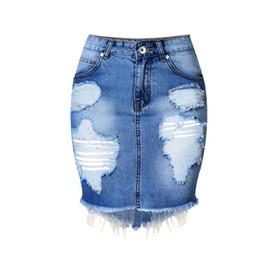 Wholesale Womens Summer Jeans - Mini Denim Skirt Women 2017 Summer Casual Split High Waist Short Jeans Skirt Irregular Sexy Pencil Skirts Womens Jupe Faldas