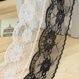 Wholesale Trimming Sewing - 50Meters Lot Width.65mm Black  White lace skirt sewing clothing decorative accessories DL_RB021
