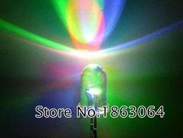 Wholesale Flash Components - Wholesale- 500 PCS LED 5MM Slow RGB Flash Red Green Blue Rainbow MultiColor Emitting Diodes Round Strobe LEDs Lamp LIGHT Active Components