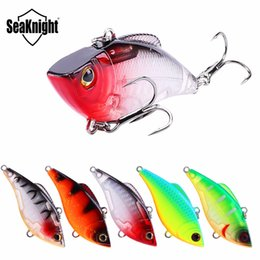 fishing lures 6cm Promo Codes - Seaknight Vib Hard Baits 6Cm 9.5G Fishing Lure Set 5Pcs lot Sinking Vibration Plastic Vib Artificial Hard Bait Fishing Bait
