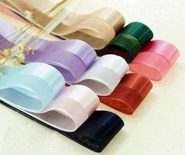 Wholesale Gift Satin Ribbon - Free Delivery 9 Colors(100meters lot) 38mm 25mm satin ribbon high quality gift packaging ribbon wedding gold ribbons DIY handmade raw materi