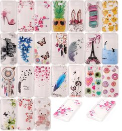 Wholesale Huawei Ascend X - Cartoon Flower Soft TPU Case For LG X Power Screen Huawei Ascend Y3 Y5 II Sony Xperia XA Owl Pikachu Dream catcher Skull Dolphin Skin Cover