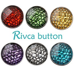 Wholesale Leather Chunks - D02519 Free Shipping Fashion 18mm Snap Buttons DIY snap button noosa chunks leather bracelet Fit DIY Noosa button Bracelet Jewelry