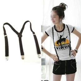 Wholesale Mens Pants Braces - Wholesale-Clip-on Adjustable Unisex Mens Women Pants Fully Elastic Y-back Suspender Braces
