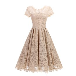 Wholesale Princess Style Women Dresses - Retro Dresses Women Princess Dress Lace A line Summer Dresses 2017 New Style S-2XL In Stock High Quality