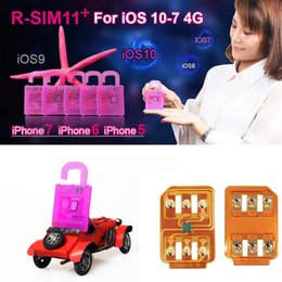 Wholesale 4g Lte Wholesale - R-SIM11+ perfect unlock For IOS10 -IOS7 Rsim 11 plus Rsim 11+ Unlock SIM Card for iphone 7 7p 6plus 6s 5s Support LTE 4G 3G Sprint AT&T T-mo
