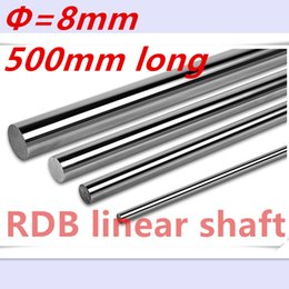 Wholesale 8mm linear - Wholesale- OD 8mm x 500mm Cylinder Liner Rail Linear Shaft Optical Axis chrome For 3D Printer Accessory 8mm linear shaft 500mm