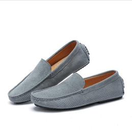 Wholesale Men Drivers Shoes - Summer Men Loafers 2017 New Casual Shoes Slip On Fashion Drivers Loafer Genuine Leather Moccasins Free Shipping