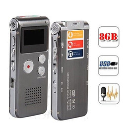 Wholesale Telephone Recording - Wholesale- Brand New Super Quality USB 8GB Digital Voice Recorder Dictaphone MP3 Player Telephone Recording Metal Shell