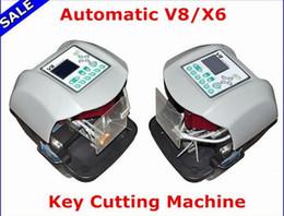 Wholesale X6 Key Cut - New Arrival! V8 X6 Key Cutting Machine X6 Machine V8 Auto Key Programmer Fast key machine Free Ship