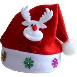 Wholesale Christmas Cards Santa - Cartoon Red Hat Kid Christmas Santa Claus Reindeer Snowman Xmas Cap Holiday Party Decoration Articles Popular 1 8mg C R