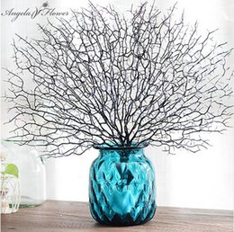 Wholesale branches for wedding decorations - High Quality Peacock Coral Branch Artificial Plants For The Wedding Home Decoration Plastic Artificial Flowers