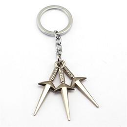 Wholesale rings naruto - New Product Naruto Metal Keychain Fashion Woman Car Key Ring Man Gift anime product