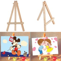 Wholesale Mini Wooden Easels Wholesale - Wholesale- OCDAY Kids Mini Wooden Easel Artist Art Painting Name Card Stand Display Holder New Sale
