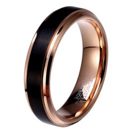 Wholesale Russian Gold Jewelry - 8mm 6mm 4mm Black & Rose Gold Plate Tungsten Carbide Wedding Band for Boy and Girl Friendship Ring Russian Men Simple Jewelry