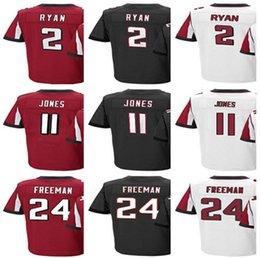 Wholesale Matt Red - Men's Atlanta #2 Matt Ryan 11 Julio Jones 24 Devonta Freeman Home Red Black Jersey Falcon Jerseys