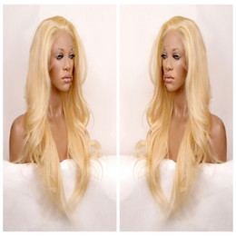 Wholesale wavy long black hair wig - Long wavy hair lace front wig synthetic black hair free part heat resistant black blonde brown three combs &straps