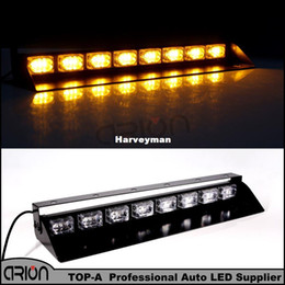 Luces de emergencia de emergencia online-24 LED 72W CE Strobing Advertencia Luz ámbar Bombero Policía Parpadeante Luces de advertencia de emergencia Fire Flash Car Truck