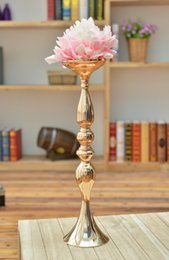 Wholesale Metal Bowl Stand - New arrival height 50 cm gold wedding table centerpieces vase decoration event party supplies
