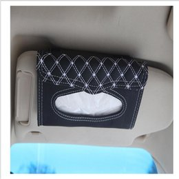 Wholesale Auto Tissue Box Holder - Wholesale- Car visor tissue box car accessories Clipboard tissue boxes Napkin Holder Auto Parts free shipping