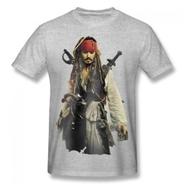 Wholesale Personalized Jack - 2017 the New Style Short-sleeves T-shirt Pirates of the Caribbean T Shirts Captain Jack T Shirt Customized Personalize T-Shirt