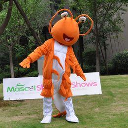 Wholesale Mascots For Cheap - Shrimp Prawn Cartoon Mascot Costume For Adults clown costumes cheap