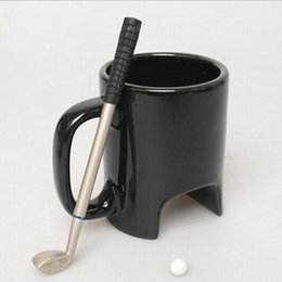 Wholesale Golf Mug - 1019011 New creative funny Sole Miniature Golf Ceramic cup Golf Coffee Mug Batman Bat Hammer Realistic shape