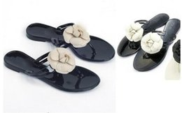 Wholesale Jelly Nude Heel - 2017 Summer new arrival high quality elegant classic luxury brand camellia leisure Soft jelly beach women slippers