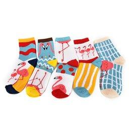 Wholesale Flamingo Socks - Wholesale- 1 Pair New Women Cute Flamingo Fashion Brand Cotton Socks For Women Girls Autumn Winter