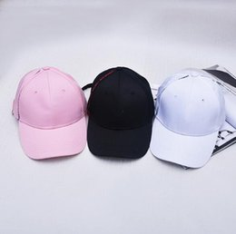 Wholesale Wholesale Embroidery Hoops - Male and female personality baseball hat buckle long straps hoop embroidery letters for male and female hip-hop peaked cap
