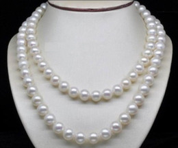 Wholesale Black Fresh Water Pearls - genuine AAA 8mm white Fresh water shell pearl necklace 33""