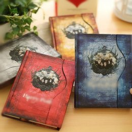 Wholesale Trend Notes Wholesale - High quality 4 Colors Notebook Hard Cover Diary Book Notepads Agenda Planner Notes Gift Children students Present IC588