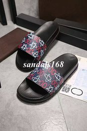 Wholesale Thick Rubber Soles - Decent 2017 Thick Soled Star Men Slippers Summer Casual Leather Cartoon Sandals for Boys Wholesale Size Euro38-46