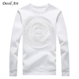 Hoodies abstratos on-line-Padrões sem tampa Hoodies abstrato circular do Atacado-Men Pure Casual Cor camisola Moda Jacket Plus Size: M-5XL 968