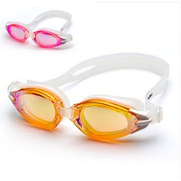Wholesale Girls Swim Goggles - Winmax high quanlity 100% U.V. protection and anti-fog swim eyewear Pink Orange adult swimming goggle