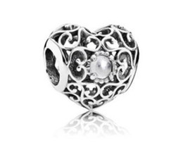 Wholesale Silver Charm Elegant Bracelet - Fits Pandora Charm Bracelet Elegant Charming Box Heart Crystal Beads Silver Plated Loose Charms For Diy European Style Snake Charm Chain