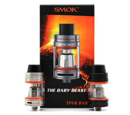 Wholesale Tfv4 Tank Coil - 3pcs Smok TFV8 Baby Beast Tank Atomizer with V8 Baby Q2 X4 Coils 3ML Top Filling E Cigarettes Big Vapor vs Toptank Mini Arctic TFV4