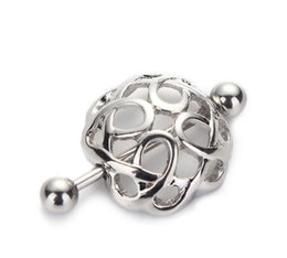 Wholesale Clip Nipple Rings - Christmas 2017 New 1 Pair 316l Surgical Steel Nipple Ring Shield Clip On Nest Ring Shape Women Body Jewelry