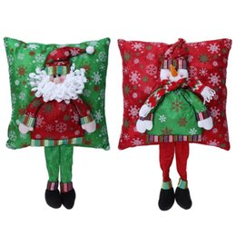 Wholesale Accesories Decorations - Christmas 3D Cushion Santa Claus Cushion with Legs Christmas Decorations for Home Xmas Bedroom Sofa Ornament New Year Decor Accesories