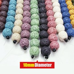 Wholesale 12mm Lava - Colorful Volcanic Rock Natural Lava Beads High Quality Loose Beads For Necklace Bracelet Jewelry Making 6mm 8mm 10mm 12mm