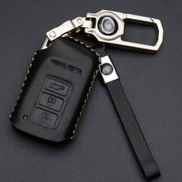 Wholesale lexus bag - Genuine Leather Key Case Car Smart Key Protect Cover Bag Men Keychain Home Key Holder For Lexus ES200 250 300h NX200 300h RX200t
