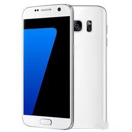 Wholesale Unlock Screen Smartphone - Goophone S7 edge MTK6582 Smartphone Cell Phone 5.5 Inch Curved screen Unlocked 3G WCDMA RAM 1GB ROM 8GB 8.0MP Show Fake 4G