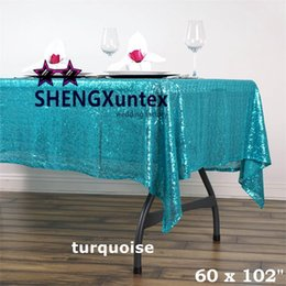 "Wholesale Tablecloth Cheap Wedding - Hot Wholesale Price 60""*102"" Rectangular Sequin Table Cloth \ Cheap Wedding Tablecloth"