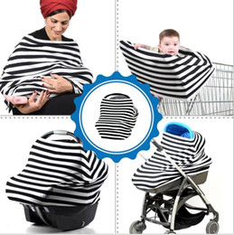 Wholesale Car Wrapping Colors - INS Nursing Cover 20 colors Multifunction Stretchy Infinity Scarf Wrap Multifunction Baby Wrap Nursing Privacy Wrap Baby Car Seat Cover D832