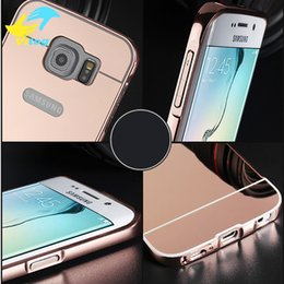 Wholesale Aluminium Case Galaxy - Luxury Mirror Aluminium metal Bumper Case For iPhone 5 5S 6 7 Plus 6S galaxy S3 4 5 S6 S7 edge A5 A3